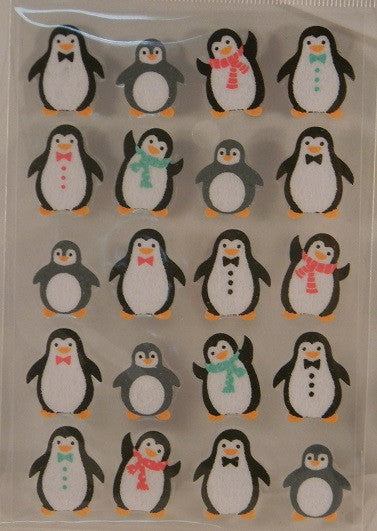 Fuzzy Penguins Stickers Zoo Animals
