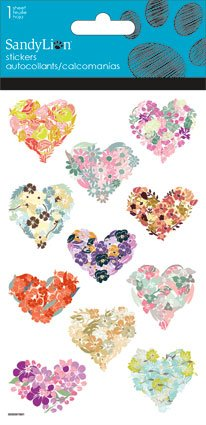Glitter Flower Stickers for Papercrafting