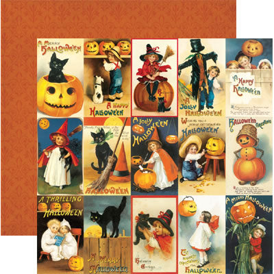 Halloween Greetings Scrapbook Paper by Reminisce