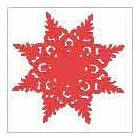 Studio G Red Snowflake Stamp
