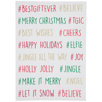 Christmas Hashtag Word Stickers