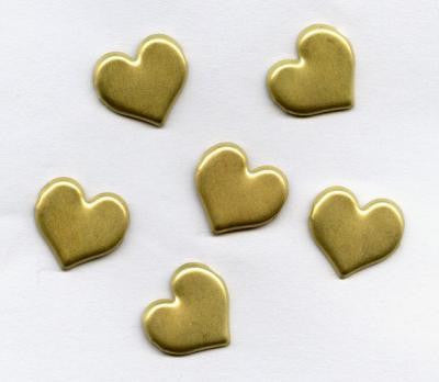 Sweetheart Brushed Gold Heart Brads Bulk 50