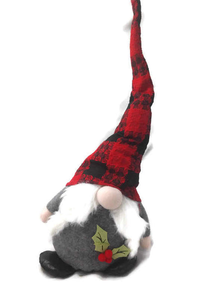 Tall Hat Christmas Gnome Plush - Gray 21.5 Inch
