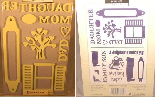 Family Tree Foam Stamp Set - 2 Sheets