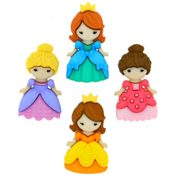 Princess Belle of the Ball Button Embellishments