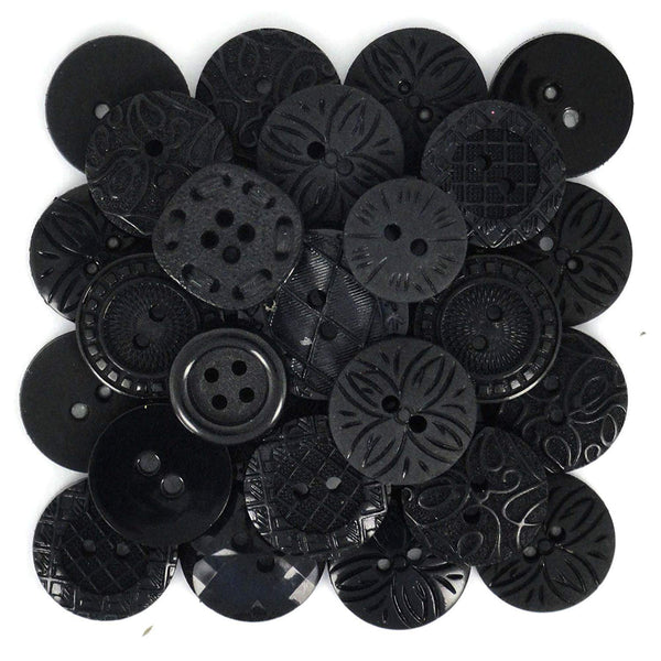 Color Me Black Buttons Set by Dress It Up