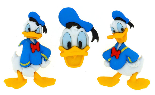 Donald Duck Disney Character Button Embellishments