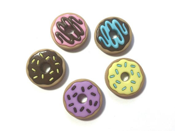 Donut Party Buttons Embellishments by Jesse James