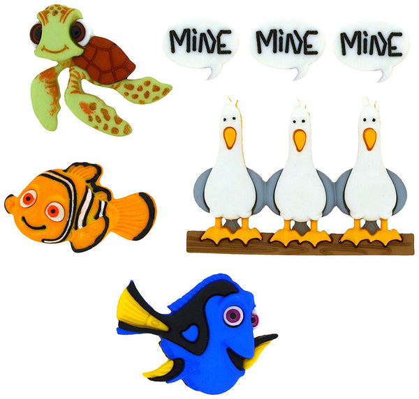 Finding Nemo Disney Character Button Embellishments