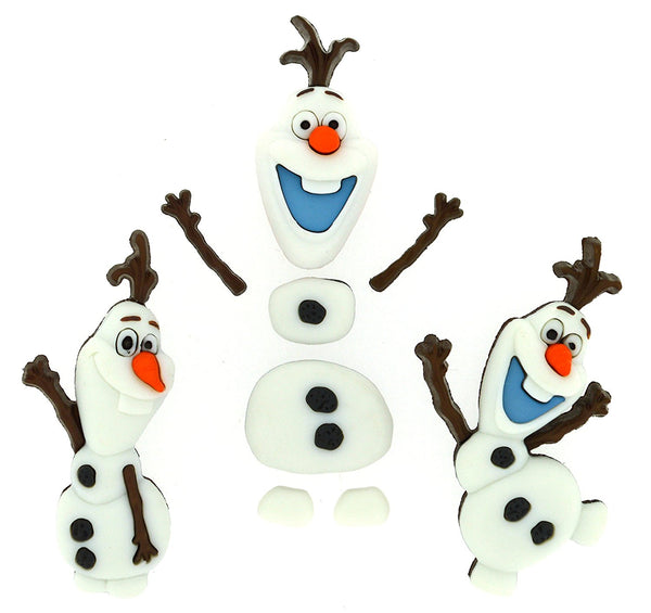 Frozen Olaf Disney Character Button Embellishments