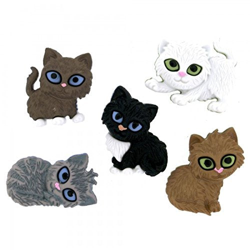 Kitten Kaboodle Cat Buttons Set with Shanks