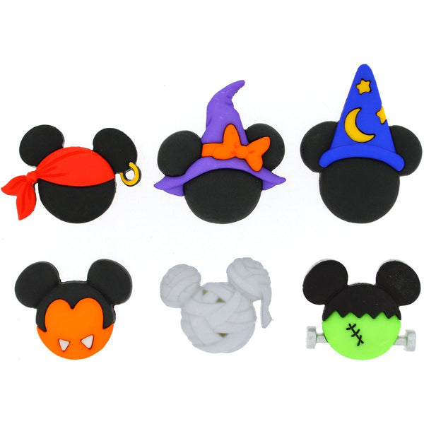 Disney Button & Embellishments, Mickey & Minnie Halloween Hats
