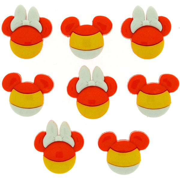 Mickey & Minnie Candy Corn Disney Button & Embellishments