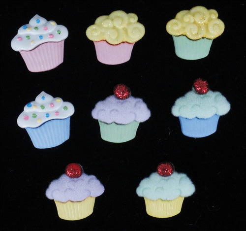 Mini Sweet Treats Cupcake Buttons