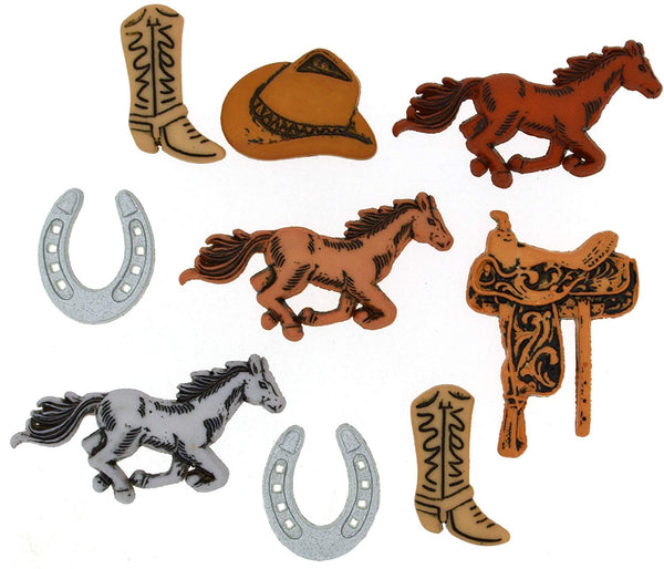 Saddle Up Horse Buttons by Dress It Up