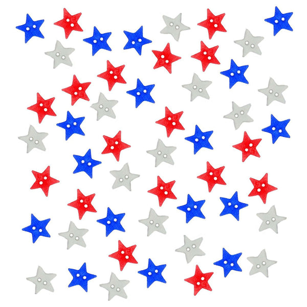 Star Spangled Buttons Embellishments by Jesse James
