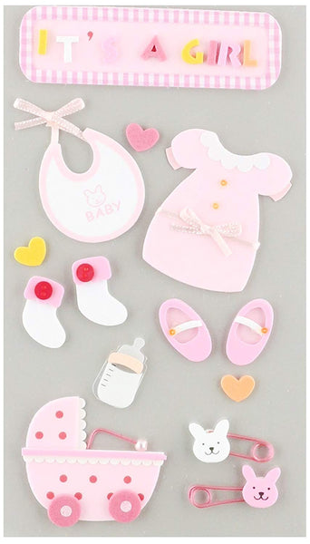 Jolees Baby Girl Its a Girl Scrapbook Stickers