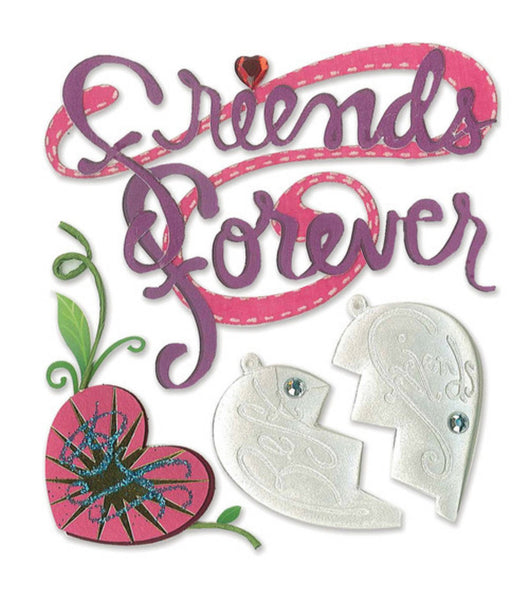 Friends Forever 3d Stickers by Jolees