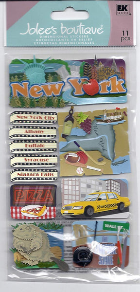 Jolees Le Grand New York Stickers