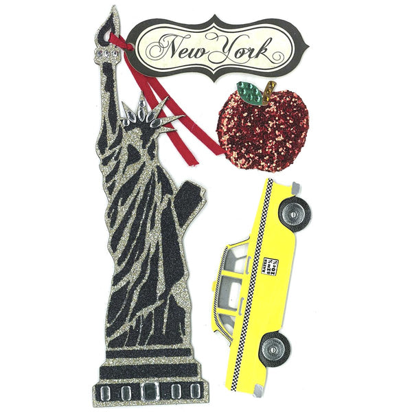 Jolees New York Statue of Liberty 3d Stickers