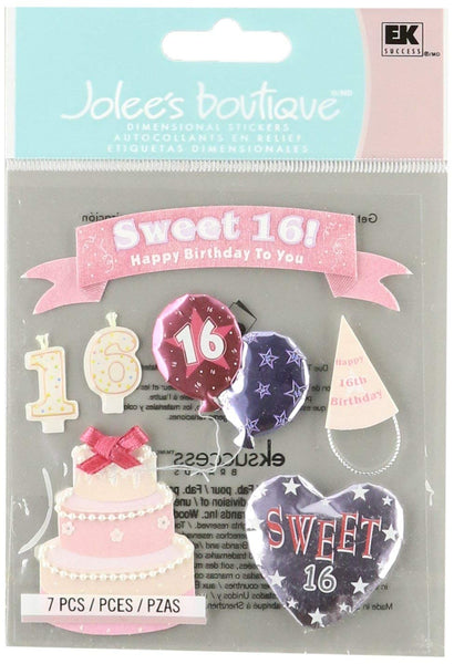 Sweet 16 Birthday Stickers by  Jolees