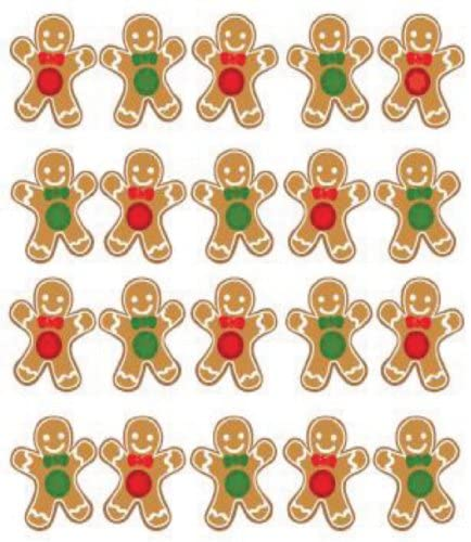 Jolees Christmas Gingerbread Stickers Repeats