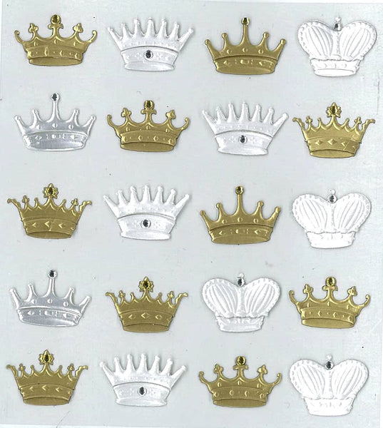 Mini Crown Repeat Stickers by Jolees