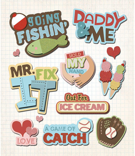 Daddy & Me 3d Stickers by K & Co
