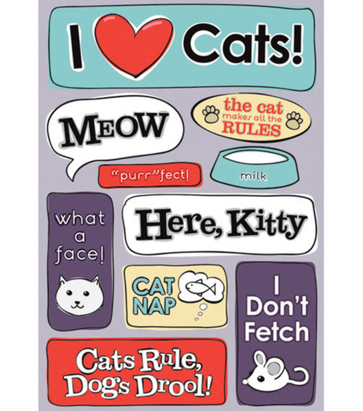 Meow Cat Stickers by Karen Foster
