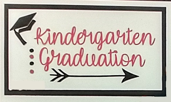 Kindergarten Graduation Paper Piecing Title