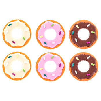 Sprinkled Donut Embellishments Flatbacks 6 Piece