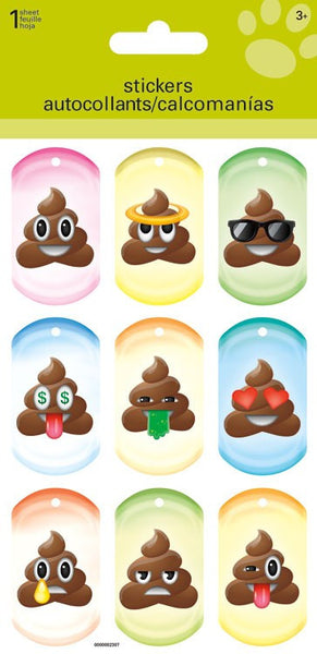 Lenticular Poop Icon Stickers