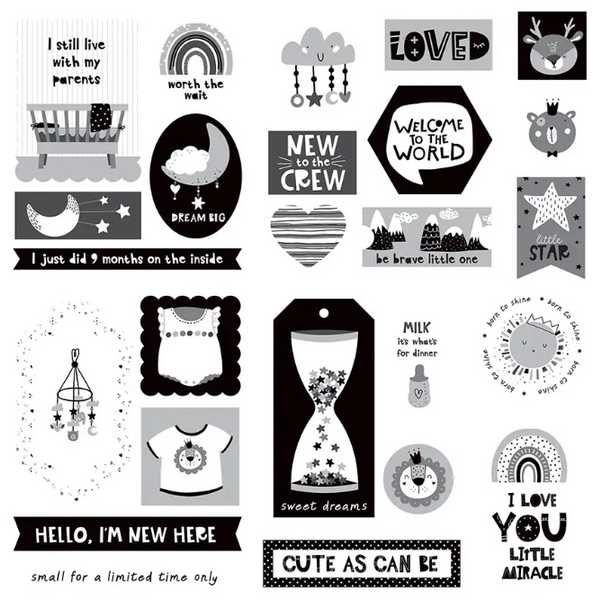 Baby Little One Die Cuts Ephemera