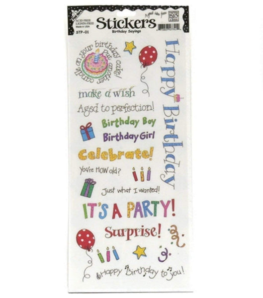 MAMBI Birthday Quote Stickers