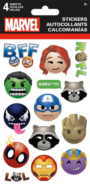 Marvel Comics Super Hero Emoji Icon Stickers 4 Sheets