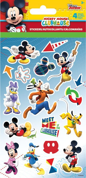 Disneys Mickey Mouse Clubhouse Disney Jr Stickers - 4 Sheets