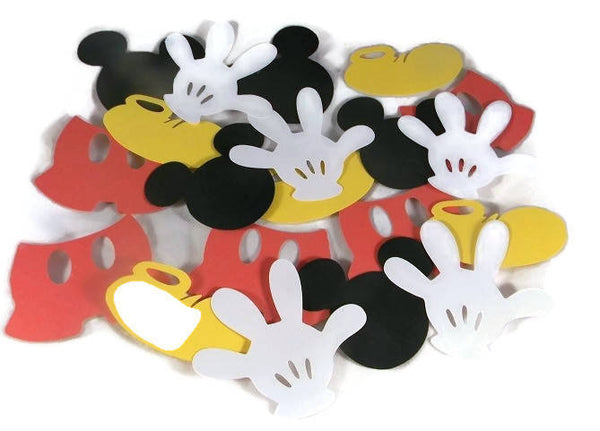 Mickey Mouse Die Cuts 4 Inch Size