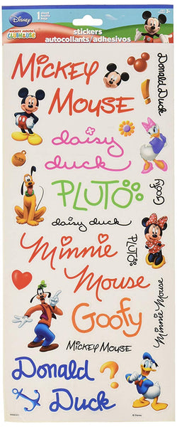 Disney Mickey Mouse Autograph Sticker Sheet