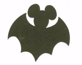 Disney Halloween Mickey Mouse Bat Die Cuts Black