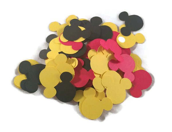 Mickey Mouse Confetti Die Cut Heads