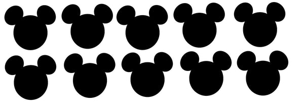 Mickey Mouse Head Die Cuts Cutouts