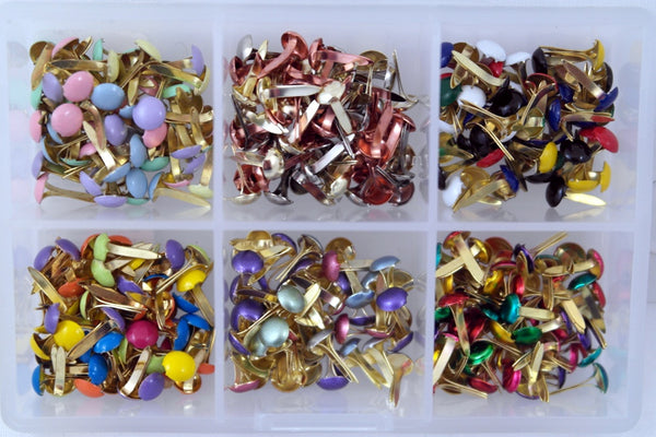 Mini Round Brads Assortment Kit 300piece