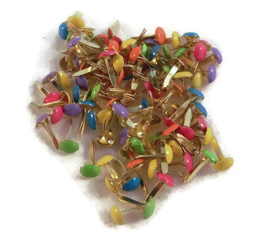 Mini Tropical Colored Brads - 100ct - Rounds
