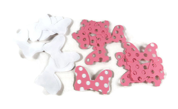 Minnie mouse pink polka dot bow die cuts set