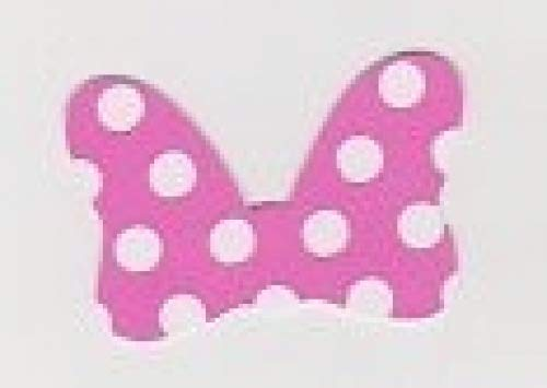 Vinyl Minnie Mouse Bow Polka Dot Pink