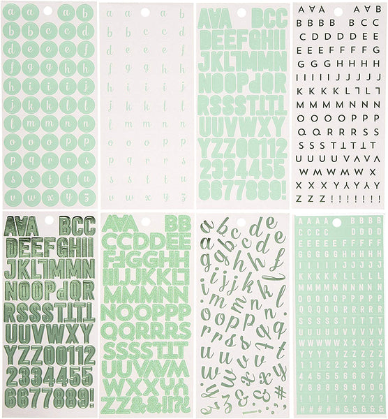 Mint Green Alphabet Sticker Book