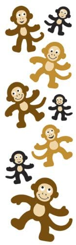Fuzzy Slim Monkey Stickers