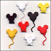 Mouse Ears Mickey Mouse Buttons Set