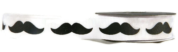 Moustache Ribbon - Grosgrain - 5yards