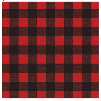 Red Black Buffalo Plaid Scrapbook Paper 12x12